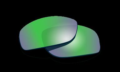 WX Compass Polarized Emerald Mirror Lenses